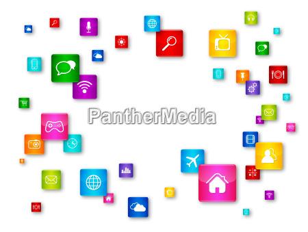 kolekcja ikon flying pulpitu