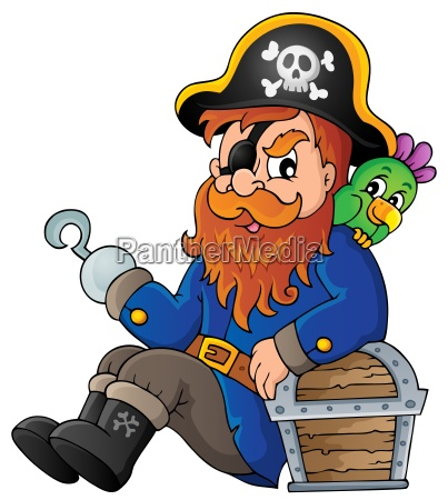 siedzac piratem motyw obrazu 1