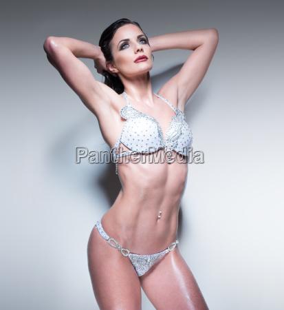 sensual woman posing in an elegant