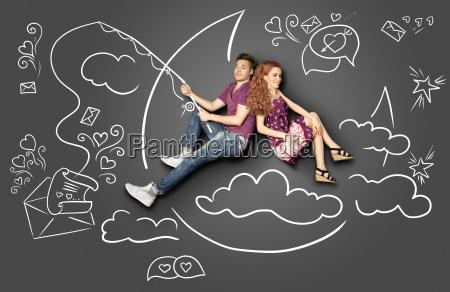 happy valentines love story pojecie romantyczny