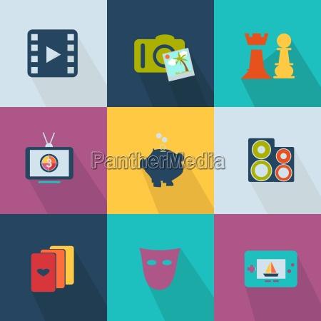 biznesowa ikona stylowa siec 20