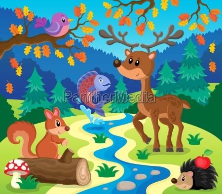 zwierzeta lesne obrazek 1