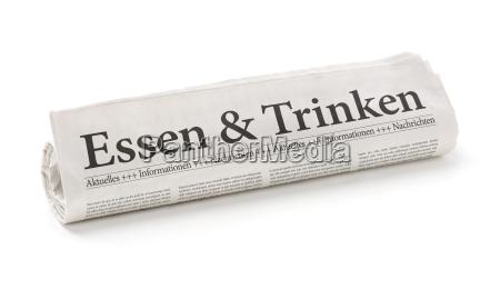 gazeta z naglowkiem zywnosc i napoje