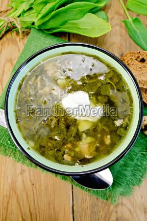 zupa zielona z szczaw i szpinaku
