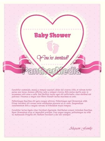 rozowy baby shower zaproszenia z tekstem