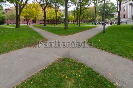 boston in autumn usa