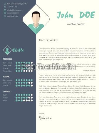 nowoczesny list motywacyjny z elementami konstrukcyjnymi