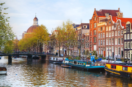 miasto widok amsterdam holandie