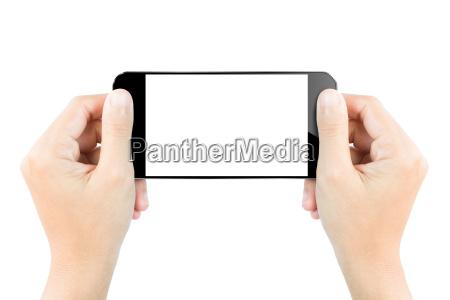 zblizenie reki ekranem wyswietlacza hold pokaz