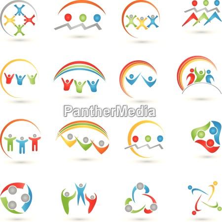 kolekcja logo ludzizespol