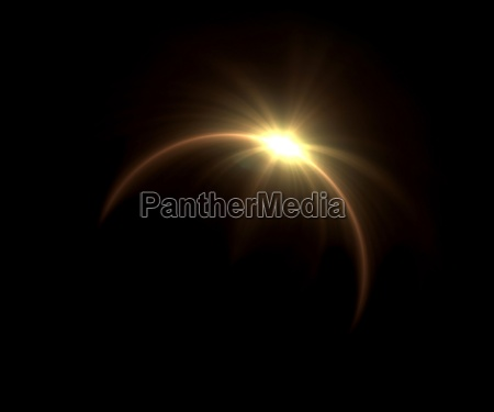 solar eclipse pierscien flare