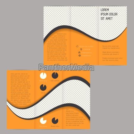 cool wave projekt tri fold ulotki