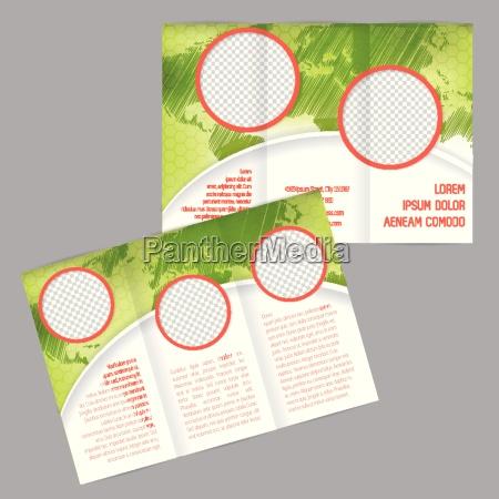 potrojnie skladany projekt broszury z mapa