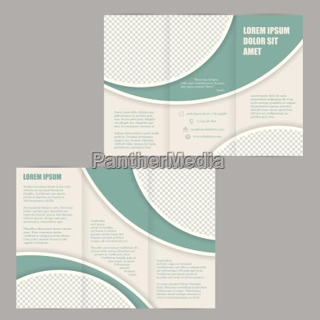 tri fold broszura ulotka szablon projektu