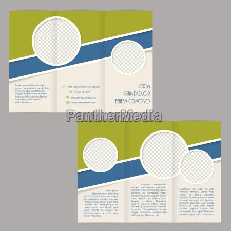 potrojne skladanie szablonow broszur z plaskimi