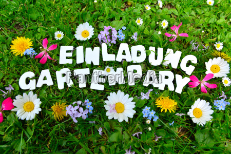 tekst na przyjecie w ogrodzie garden