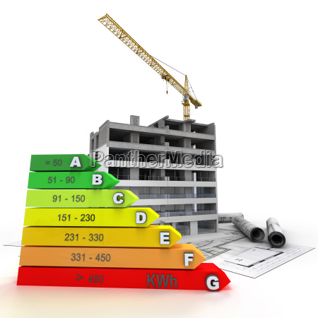 energy efficient rated construction site
