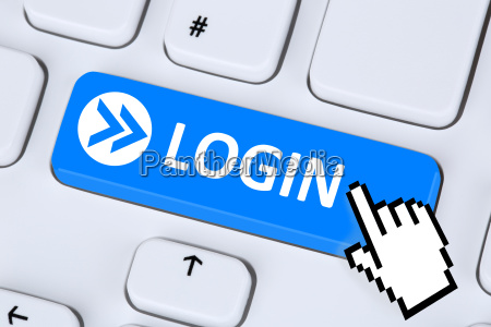 login button logowania z haslem on