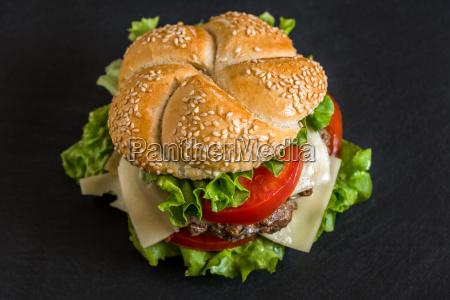 hamburger z warzywami