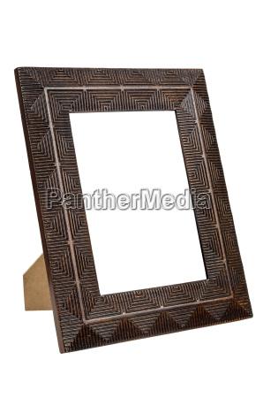 decorative empty bronze picture frame