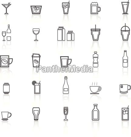 drink z ikon linii odzwierciedlaja na