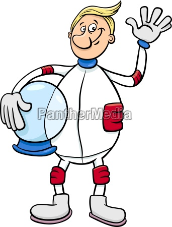 space kosmos ilustracja astronauta cartoon kosmonauta