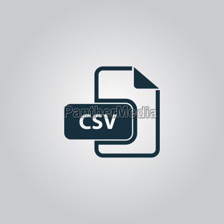 ikona typu pliku tekstowego rozszerzenia csv