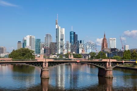 skyline frankfurt main hesja niemcy