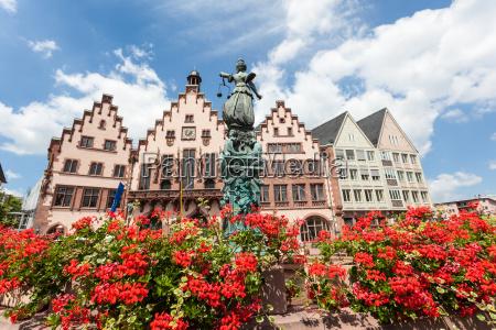 lady justice statue in frankfurt