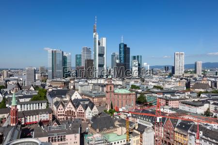 skyline of frankfurt main germany