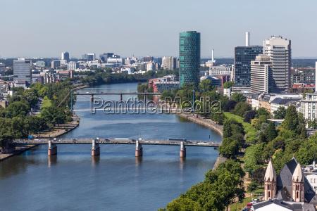 river main in frankfurt germany