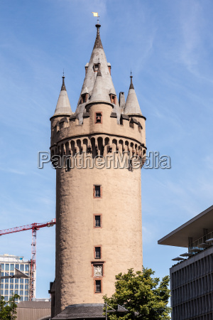 eschenheim tower in frankfurt main germany