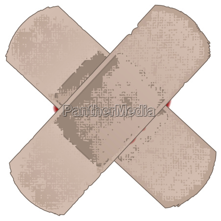 zwolniony grafika krzyz plaster ilustracja zdeponowanych