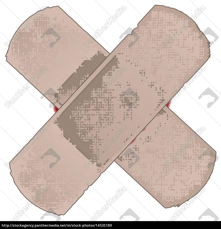 przyklejanie, plastrów - 14535189
