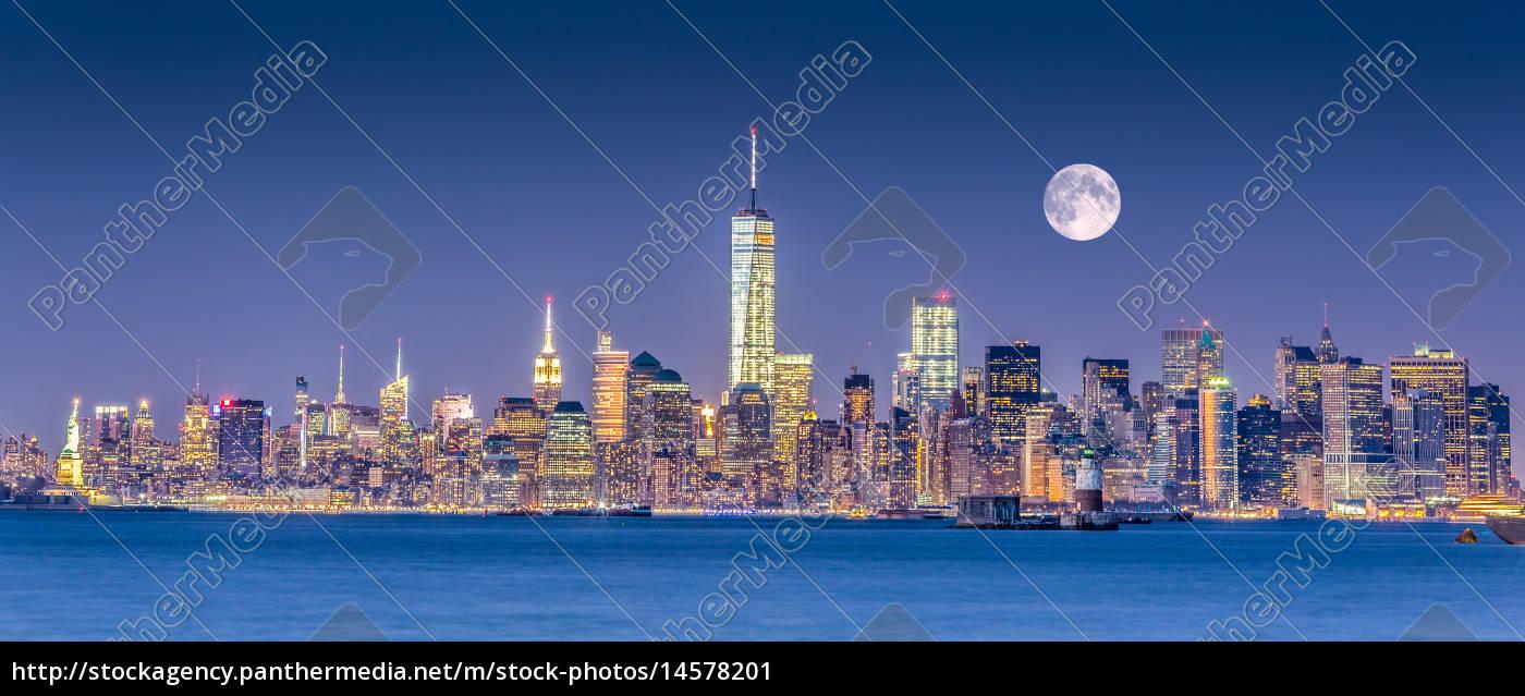 new, york, city, manhattan, downtown, skyline - 14578201