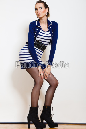 fashion photo of young woman in