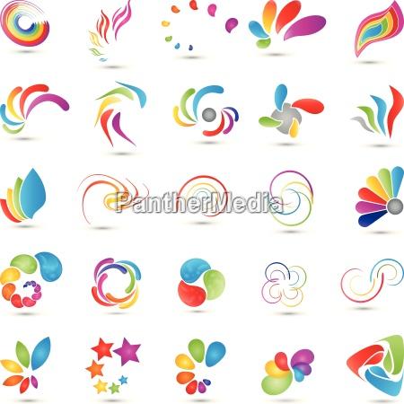 kolekcja spirali logo multimedia