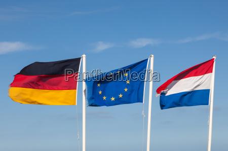 flagi niemiec holandii i ue