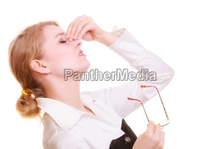 headache woman suffering from head pain