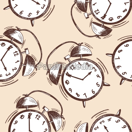bezszwowy wzor zegara alarmu