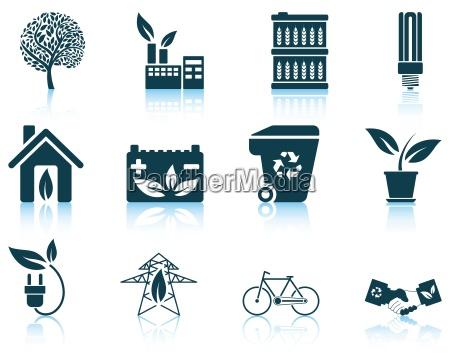 zestaw ekologicznych ikon