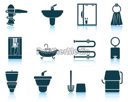 zestaw ikon lazienkowe