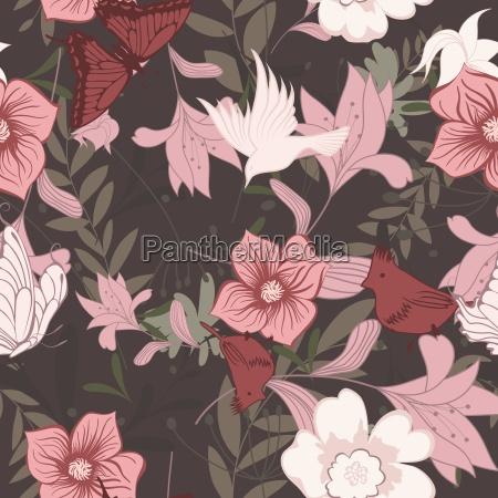 jednolite kwiatowy wzor