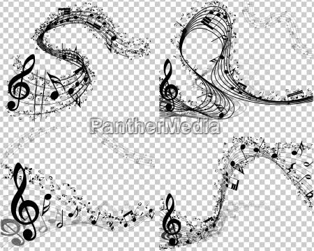 zestaw 4 tla muzyczne