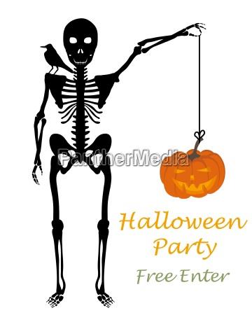 halloweenowa karta okolicznosciowa
