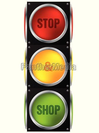 zatrzymywanie reklam i sklepowe sygnalizacja swietlna
