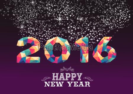 szczesliwa nowego roku 2016 koloru trojboka