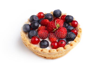 dessert with wild berries sweet
