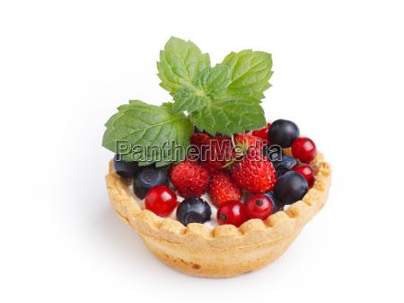 dessert with wild berries