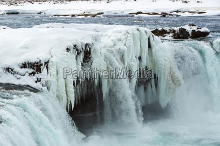 zima zimowy wodospad frozen mrozone islandia